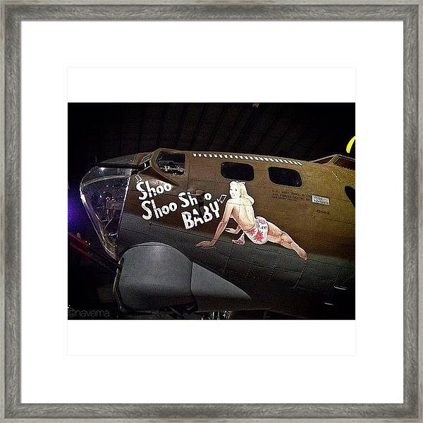 Ww2 Boeing B-17g Flying Fortress shoo Framed Print