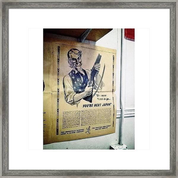 Ww2 Vintage War Bonds Advertising Framed Print
