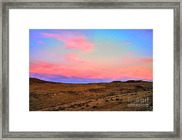 Wyoming Lights Framed Print