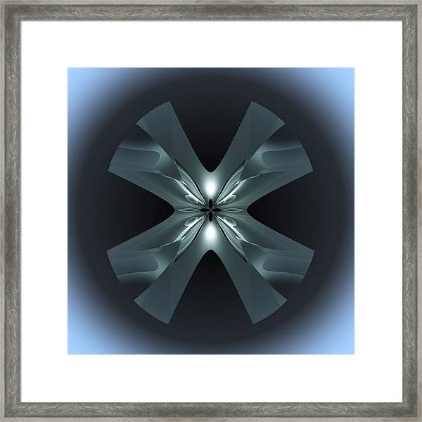 Framed Print featuring the digital art X Lights by Visual Artist Frank Bonilla