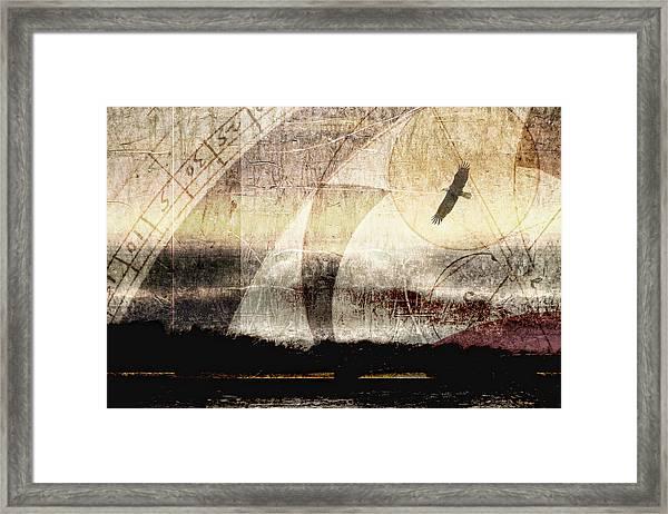 Yachats Eagle Framed Print