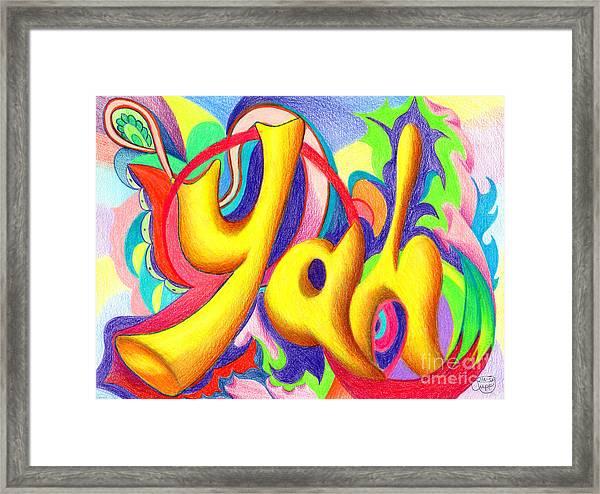 YAH Framed Print