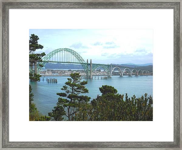 Yaquina Bay Bridge Newport Framed Print