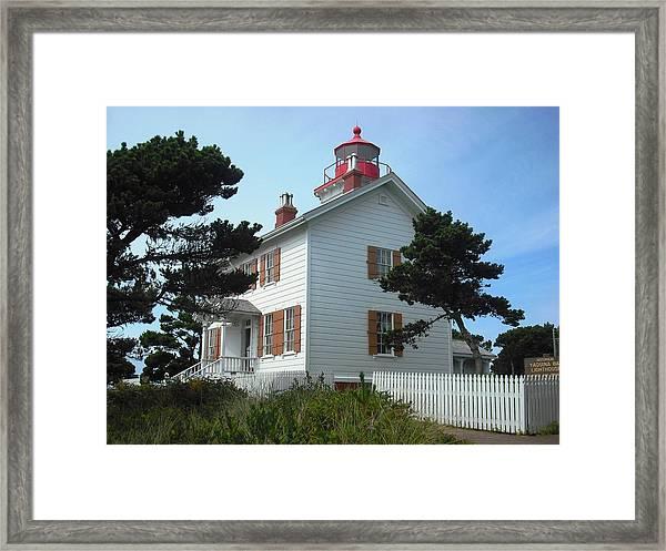 Yaquina Bay Lighthouse Newport Framed Print