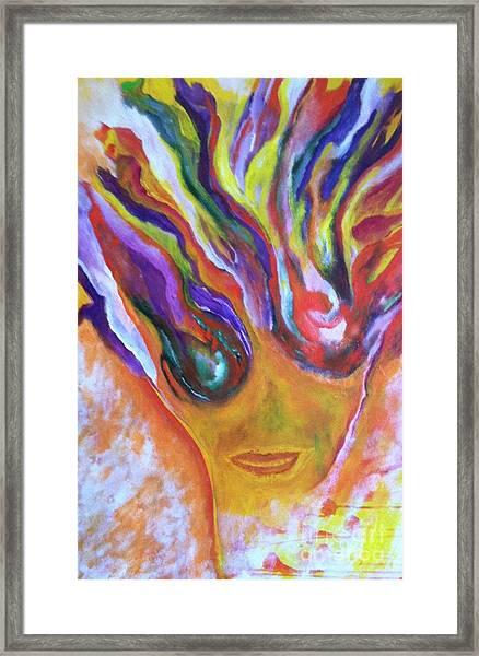 Yay Framed Print by Bebe Brookman
