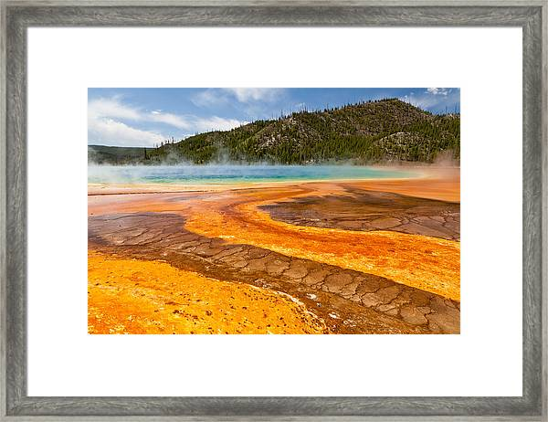 Yellow Brick Road - Grand Prismatic Spring Framed Print