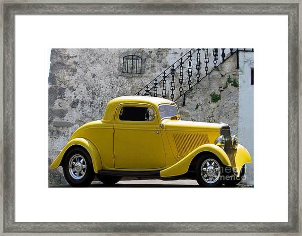 Yellow Coupe Hardtop Framed Print