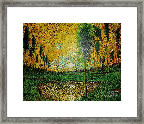 Yellow Pond Framed Print