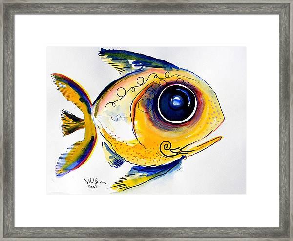 Yellow Study Fish Framed Print