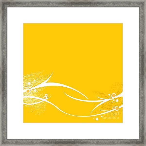 Yellow Twigs Framed Print