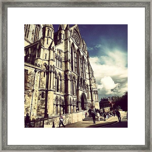 #yorkuk #yorktown #york #england Framed Print