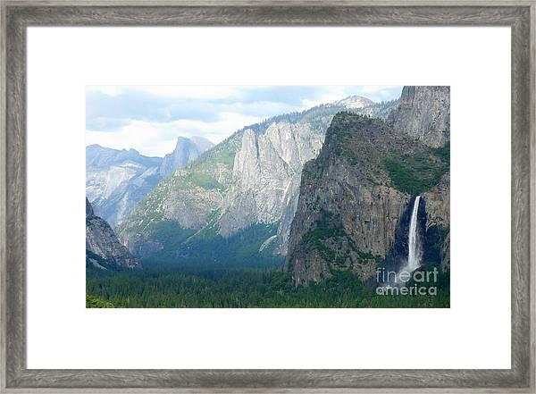 Yosemite Bridalveil Fall Framed Print