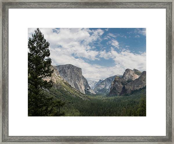Yosemite Valley From Tunnel View At Yosemite Np Framed Print