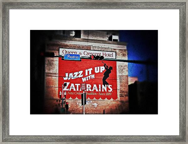 Zatarain's Building Sign Framed Print