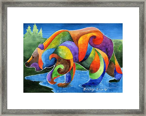 Zen Bear Framed Print