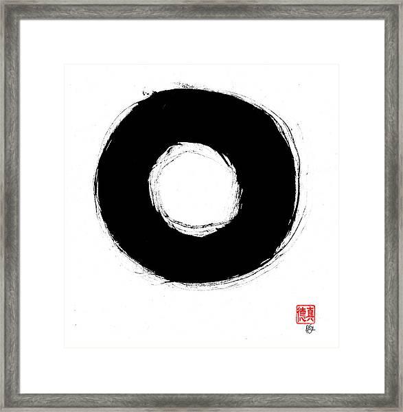 Zen Circle Seven Framed Print