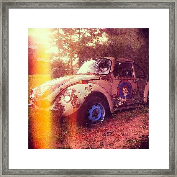 #zombiecar #vw #volkswagen #bug Framed Print