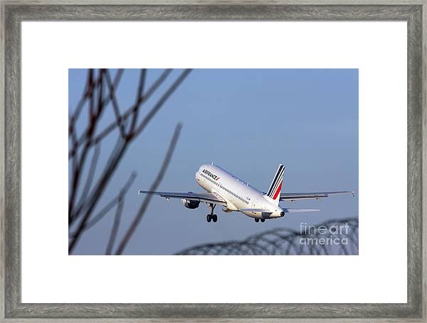 Air France Airbus A320 - Msn 491-002 - F-gjvw  Framed Print