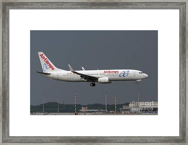 Aireuropa - Boeing 737-800 - Ec-jbk  Framed Print