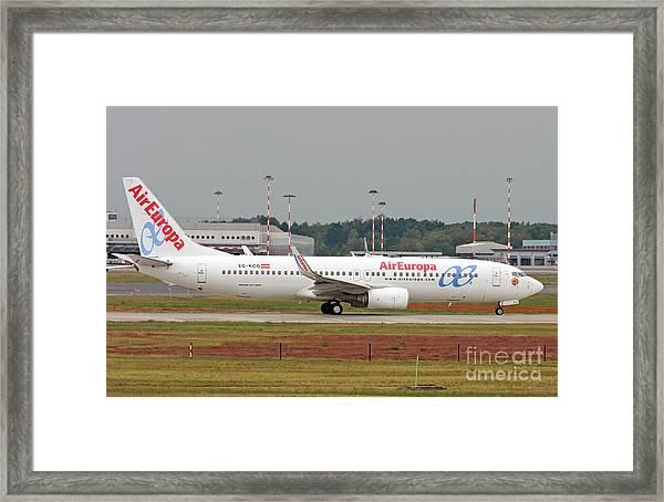 Aireuropa - Boeing 737-800 - Ec-kcg  Framed Print