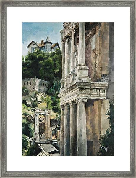 Ancient Amphitheater Framed Print