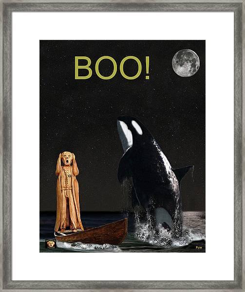 Boo Scream With Orca Framed Print