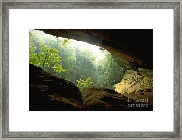 Cave Entrance In Ohio Framed Print