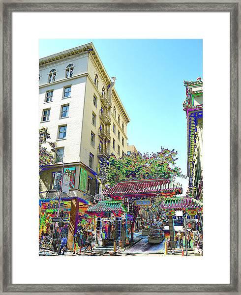 China Town Fantasy Framed Print