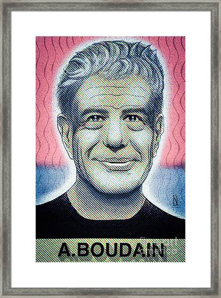 Commemoration  Of Anthony Boudain  Framed Print by Don Nitram aka Martin G Macias