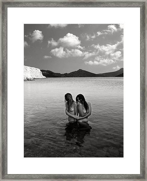 Emerging Aphrodites Framed Print
