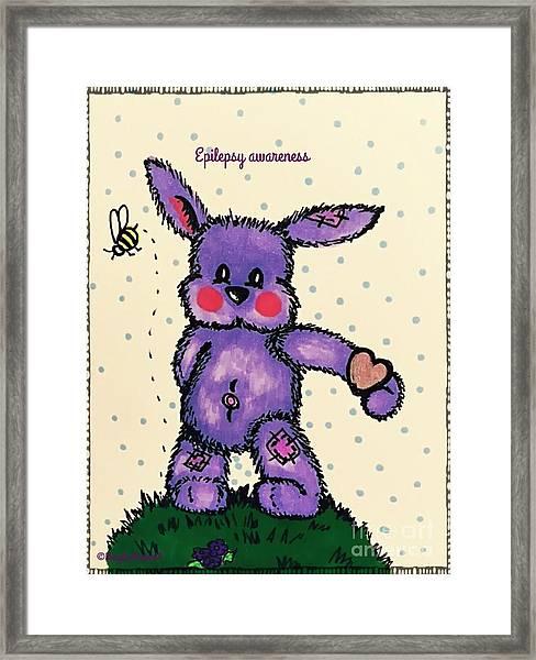 Epilepsy Awareness Bunny Framed Print
