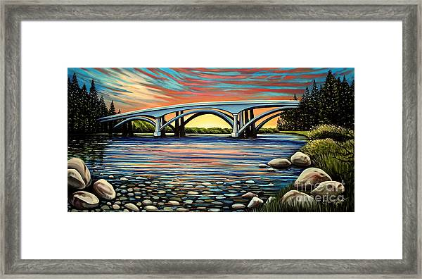 Folsom Bridge Framed Print