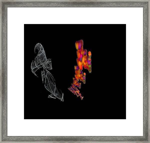 Gemini. Me And My Shadow Framed Print