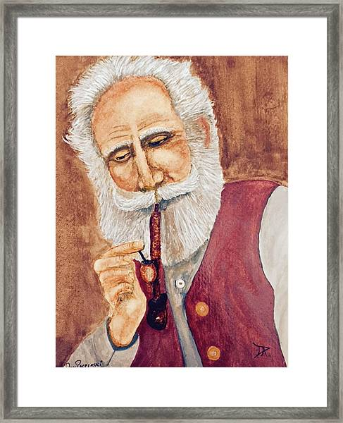 German With Pipe No. 2 Framed Print