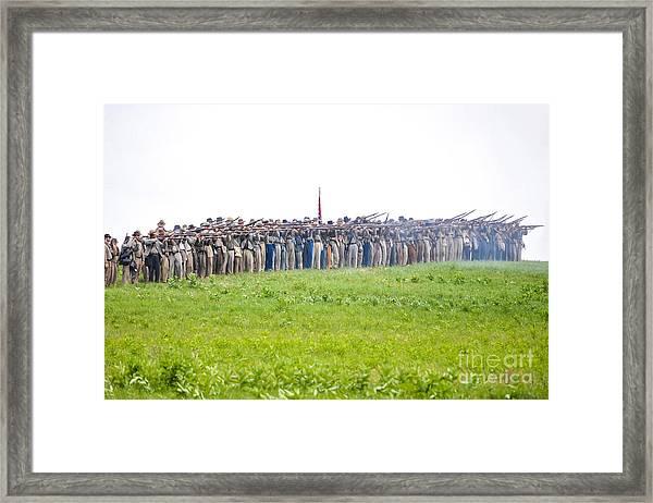 Gettysburg Confederate Infantry 0157c Framed Print