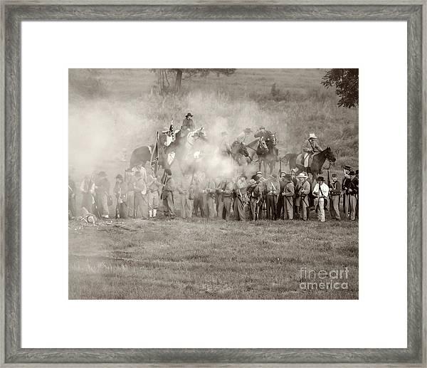 Gettysburg Confederate Infantry 7503s Framed Print