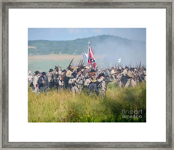 Gettysburg Confederate Infantry 9214c Framed Print