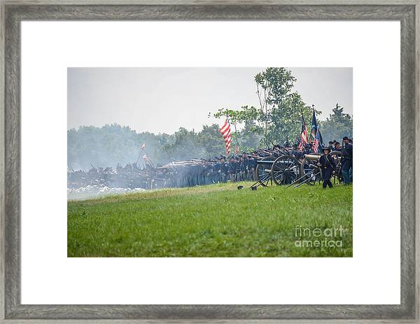 Gettysburg Union Infantry 9968c Framed Print