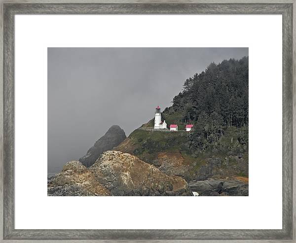 Heteca Head In Fog Framed Print