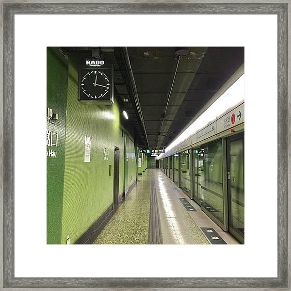 #香港 #hongkong #大窩口 #taiwohau Framed Print by Takaharu Nakamoto