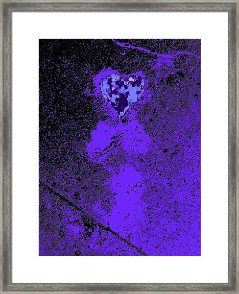 Love Walked On And Polished Framed Print