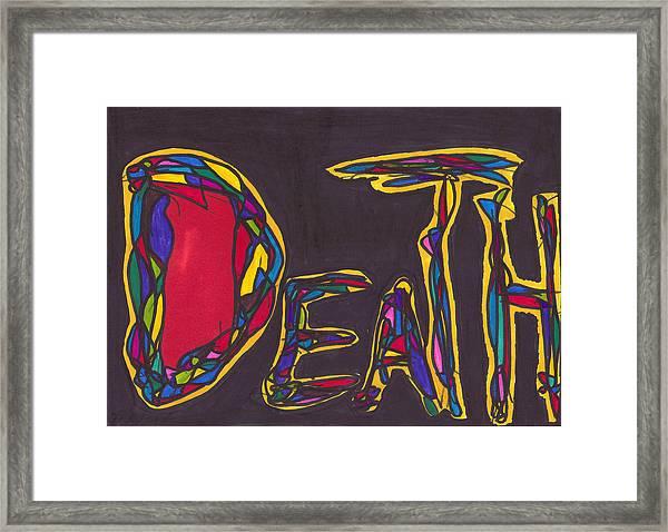 Pillar Of Death Framed Print by Darrell Black