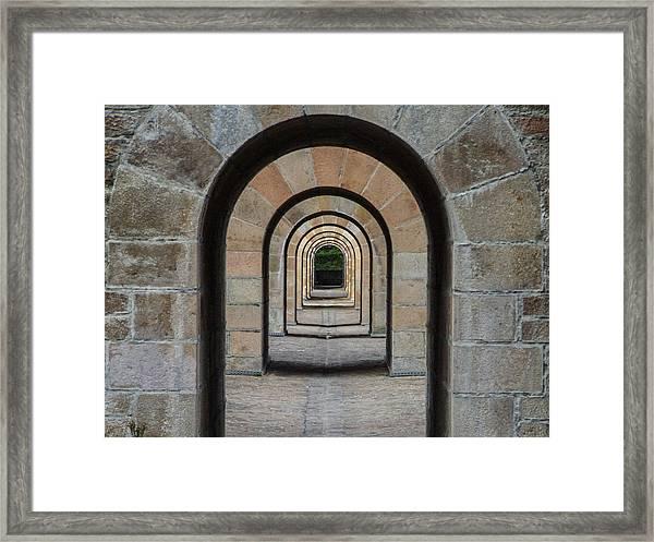 Receding Arches Framed Print