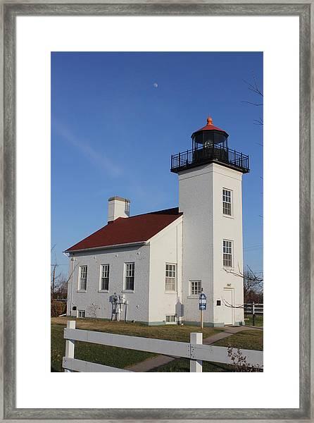 Sand Point Lighthouse Escanaba Framed Print
