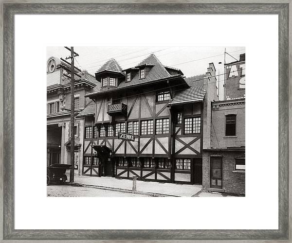 Scranton Pa Zenke's Alt Heidelberg Restaurant Early 1900s Framed Print