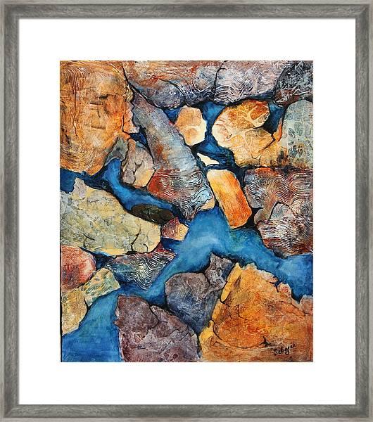 Shoreline Rocks Framed Print