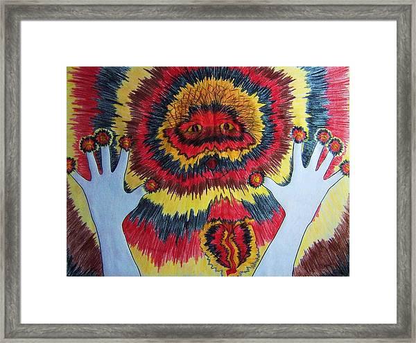 Splitting Framed Print