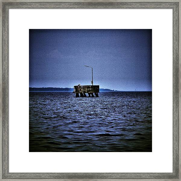 The Dock Of Loneliness Framed Print