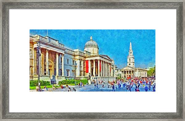 The National Gallery And St Martin In The Fields Church Framed Print