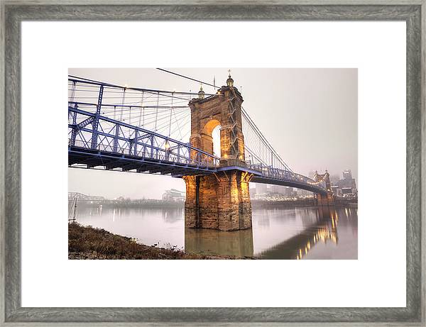 The Roebling Bridge Framed Print